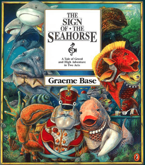 graeme base, sign of the seahorse